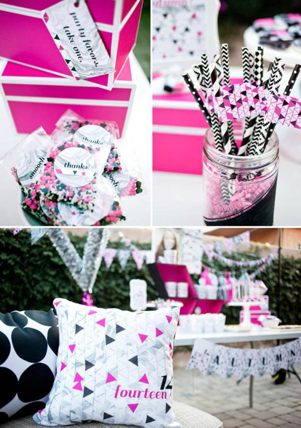 Geometric Party Trend - See more amazing party trends for 2016 at B. Lovely Events!