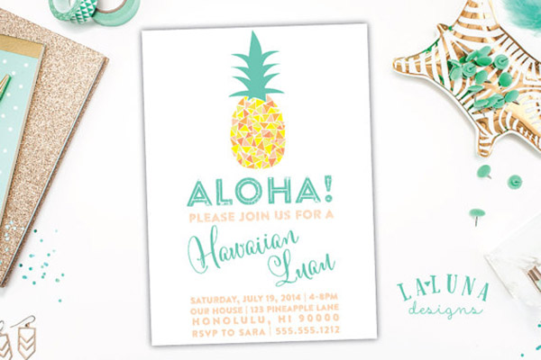 Lovely Pineapple Party Invitations. - See More Lovely Pineapple Party Ideas At B. Lovely Events!