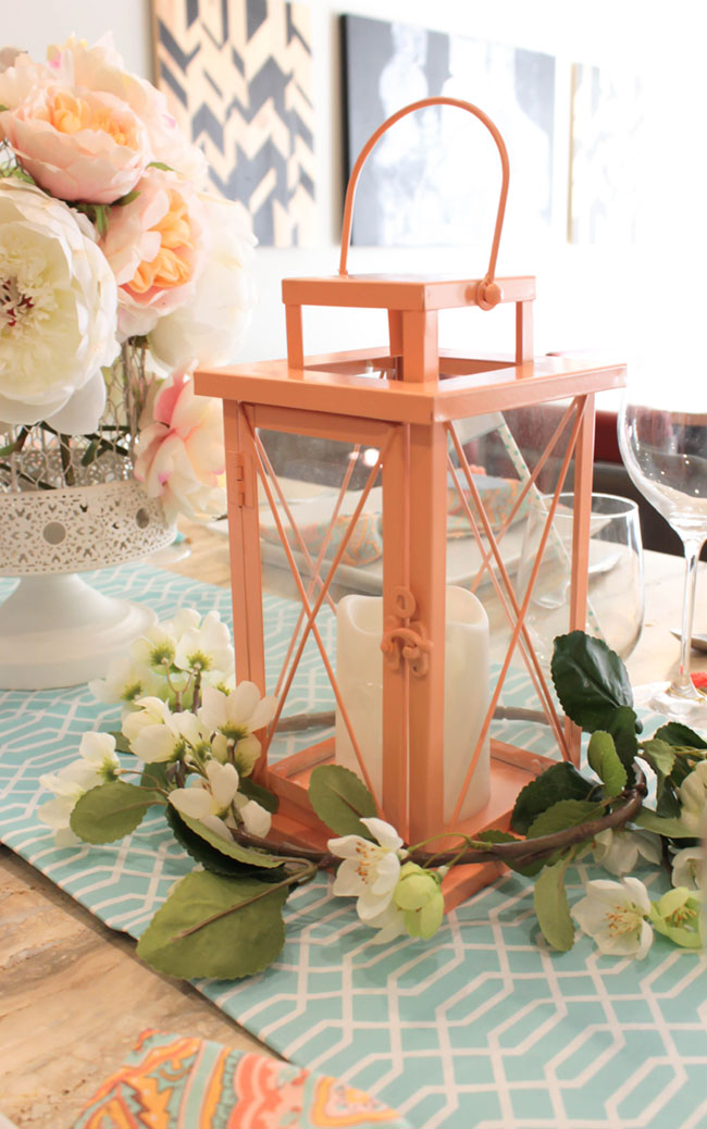 Gorgeous Blooming Lantern Centerpiece - Lovely For Mother's Day! - See How To Put It Together On B. Lovely Events!
