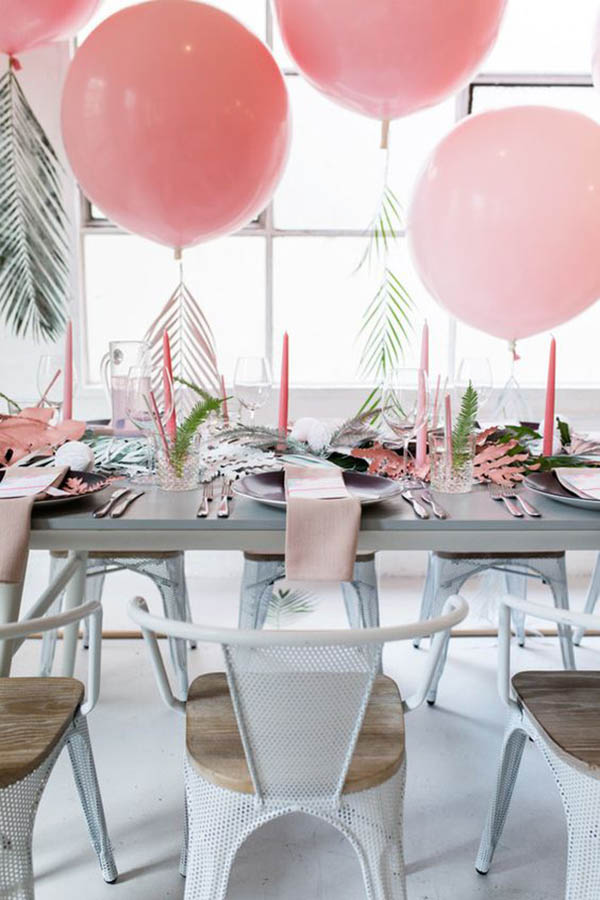 Palm Leaf Tablescape - See more amazing party trends for 2016 at B. Lovely Events!