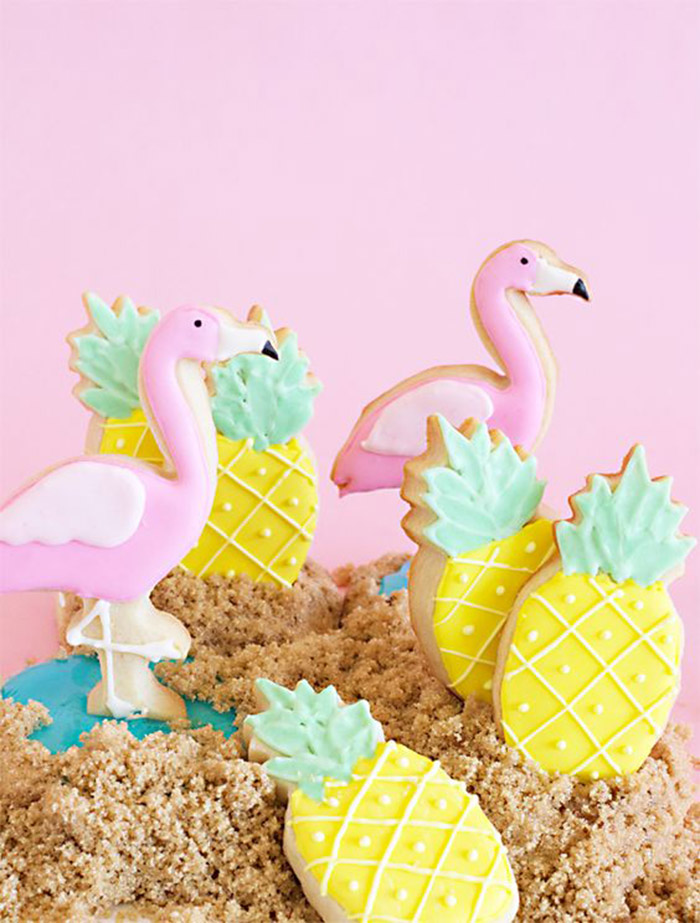Pineapple Cookies That Are Adorable! - See More Lovely Pineapple Party Ideas At B. Lovely Events!