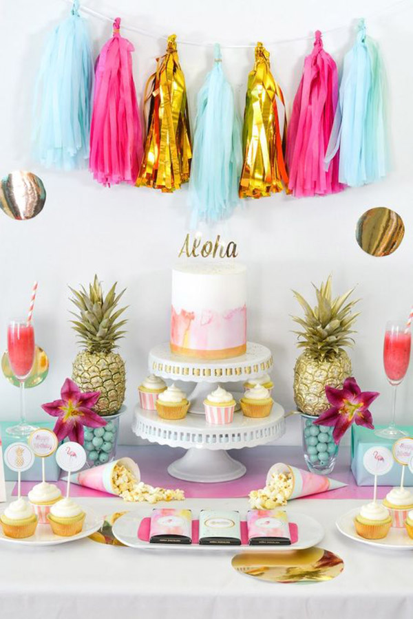 Pineapple Party Dessert Bar - See More Lovely Pineapple Party Ideas At B. Lovely Events!