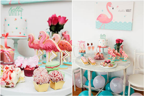 Sweet Flamingo-Party-Tablescape - - See more amazing party trends for 2016 at B. Lovely Events!