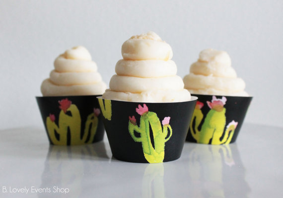 Fun Cactus Cupcake Wrappers At B. Lovely Events Shop