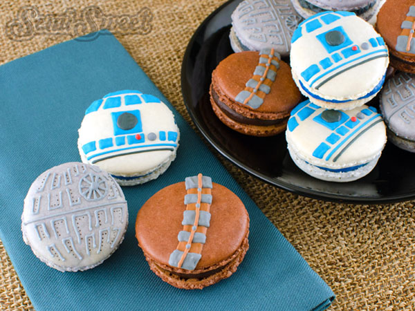 Fun Star Wars Macaroons! - Check Out More May the 4th be with you ideas on the blog! - B. Lovely Events