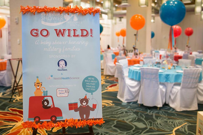 Go Wild Baby Shower- Operation Shower Sign- See All The Photos On B Lovely Events!