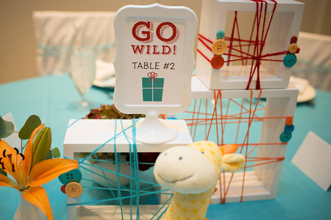 Go Wild Baby Shower Table Numbers- Operation Shower- See All The Photos On B Lovely Events!