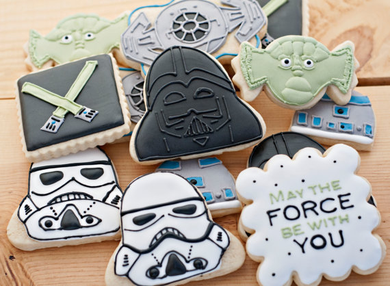 Star Wars Cookies! - Check Out More May the 4th be with you ideas on the blog! - B. Lovely Events