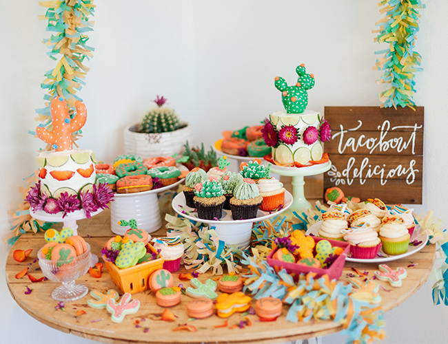 Vibrant Cactus Fiesta Party
