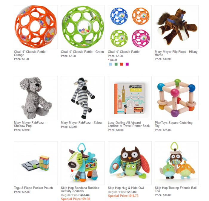 Baby Cubby toys