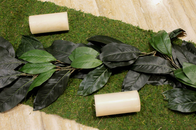 DIY Magnolia Leaf Centerpiece (2) -Learn How To Make Them On B. Lovely Events
