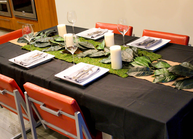 DIY Magnolia Leaf Centerpiece (4) -Learn How To Make Them On B. Lovely Events