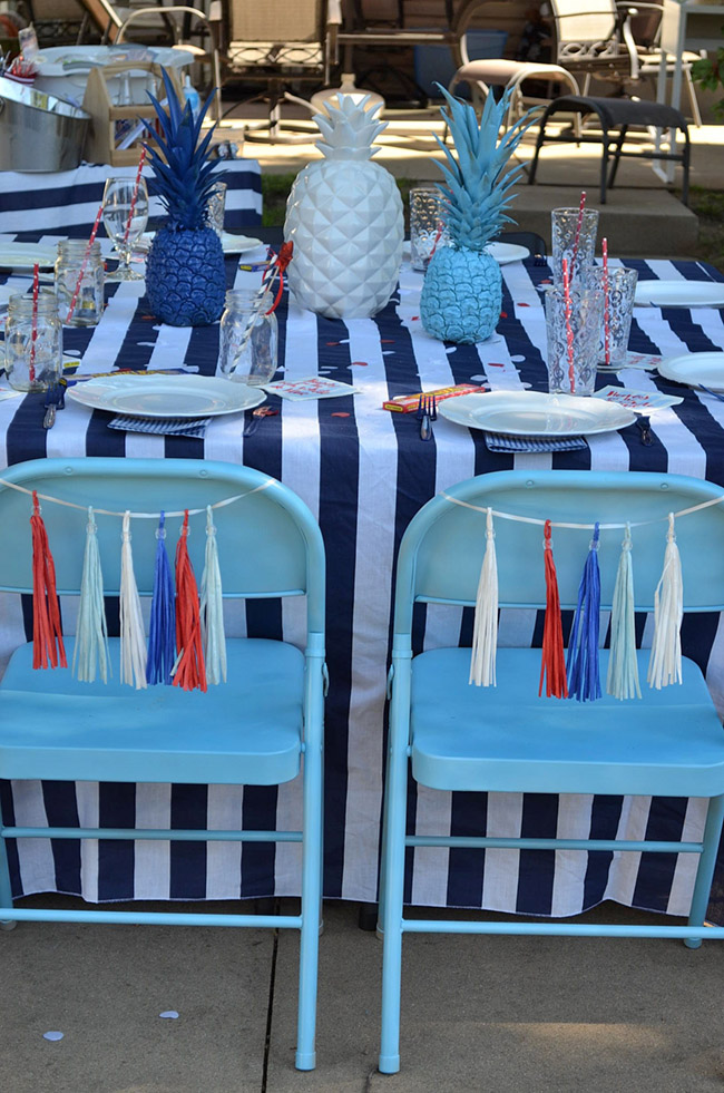 4th Of July Celebration Tablescape- See All Of The Lovely Party Details on B. Lovely Events!