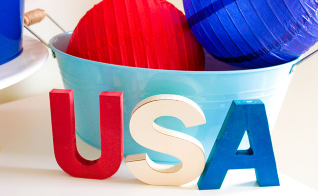 4th Of July Red White and Blue Decor- See more on B. Lovely Events