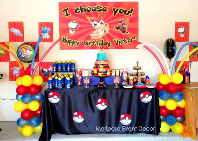 Amazing Pokemon Party Dessert Bar! - See more cute Pokemon Party Ideas on B. Lovely Events