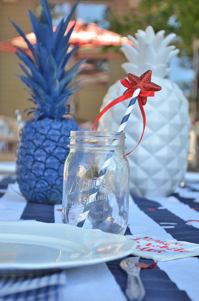 Fun 4th Of July Drinks -See All Of The Lovely Party Details on B. Lovely Events!