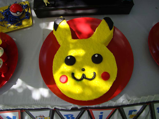Fun Pikachu Pokemon Cake! - See more cute Pokemon Party Ideas on B. Lovely Events