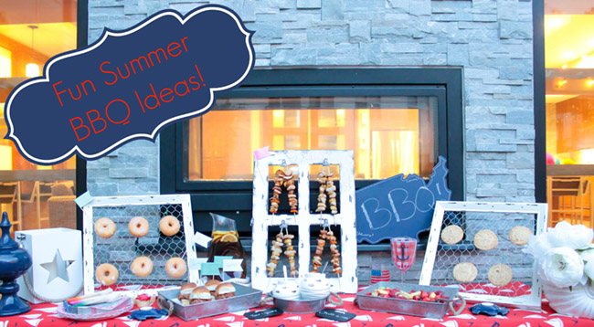 Fun Summer BBQ Decor and Food Ideas! - See Them all on B. Lovely Events