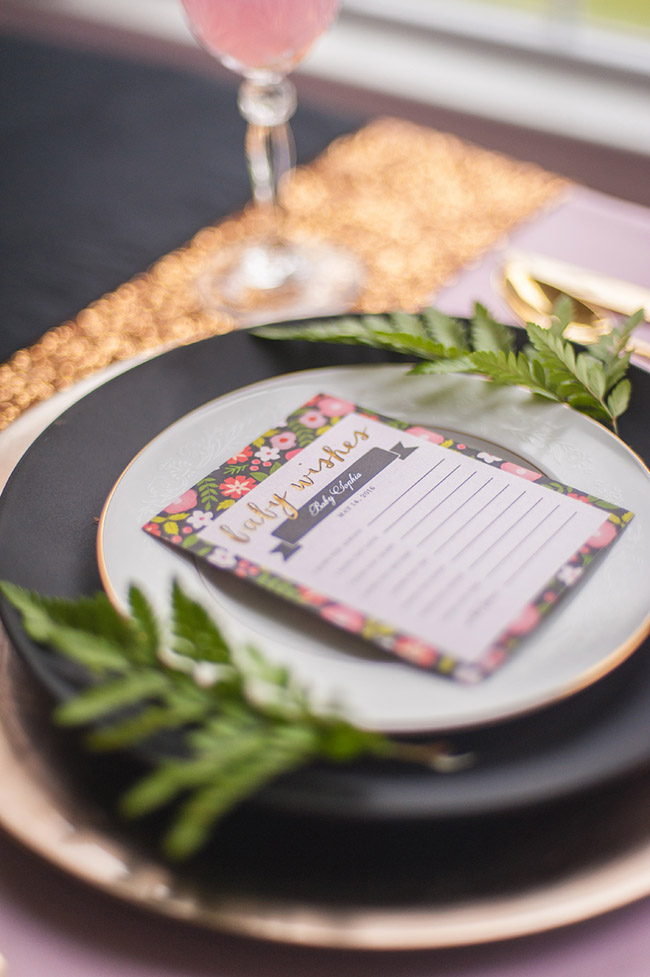 Gorgeous Floral baby shower plates