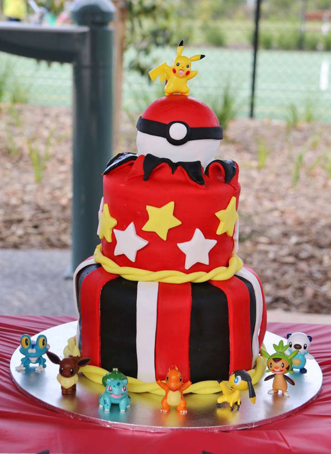 Lovely Pokemon Party Cake - See more cute Pokemon Party Ideas on B. Lovely Events