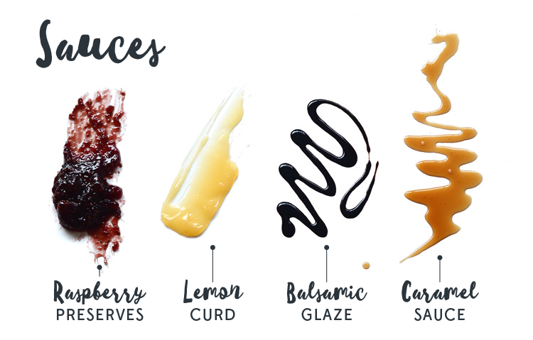 Ice cream sundae sauces