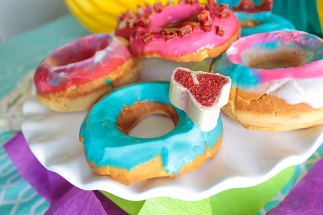 Treat topped Dog Donuts! - Get the recipe from B. Lovely Events