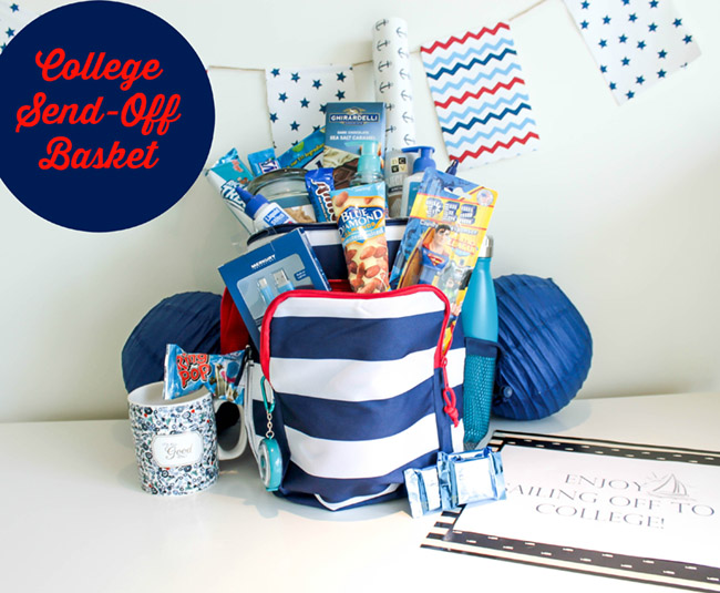Sailing Off To College Send Off Basket- B. Lovely Events