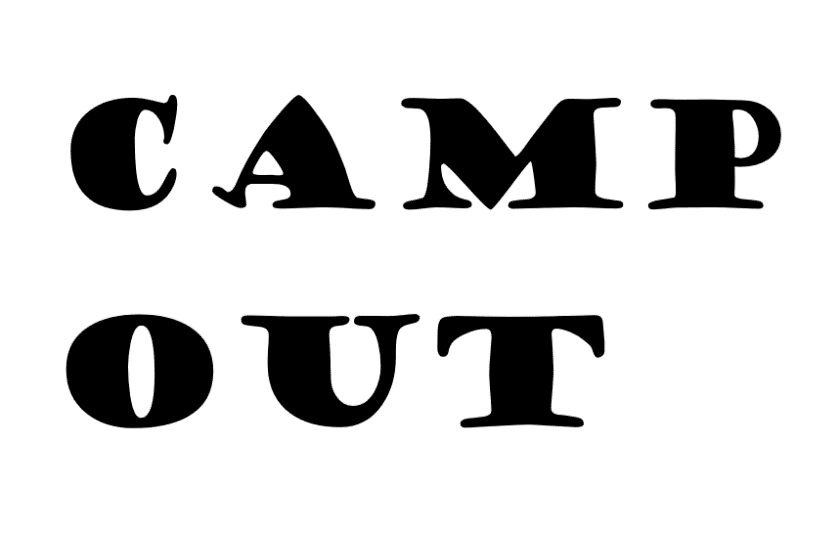 camp out cricut project