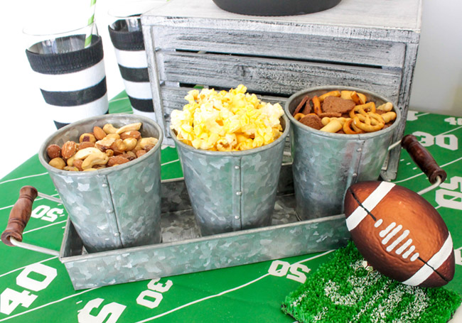 great-football-snacks-at-this-diy-home-tailgate-party- B. Lovely Events