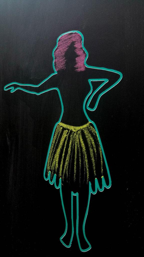 hula-chalkboard-girl-at-tropical-party