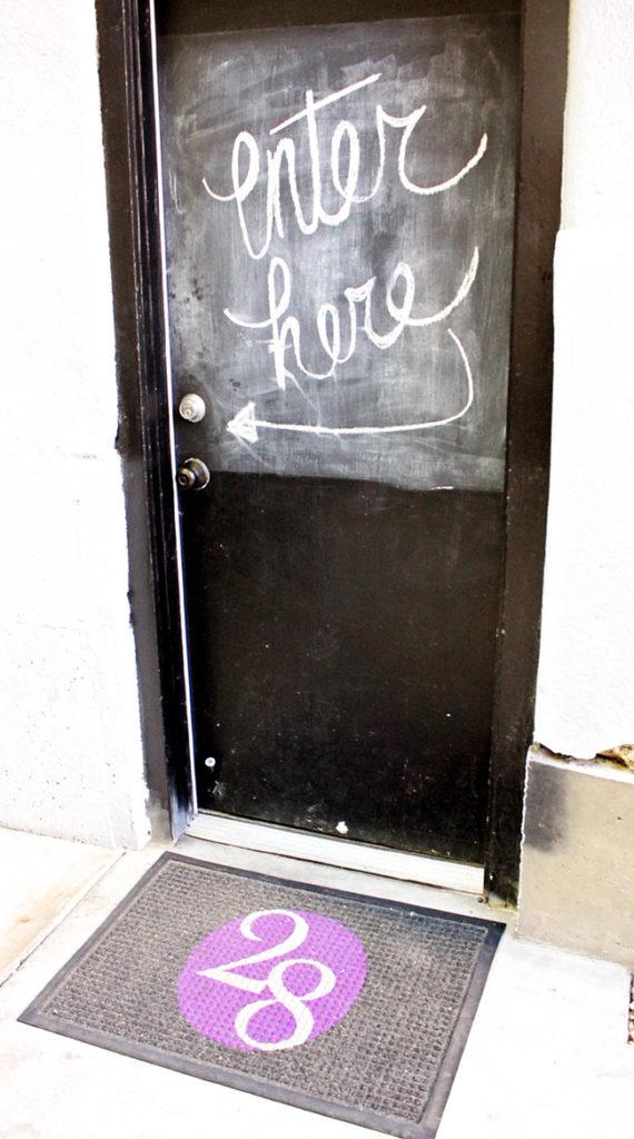 Love this chalkboard door
