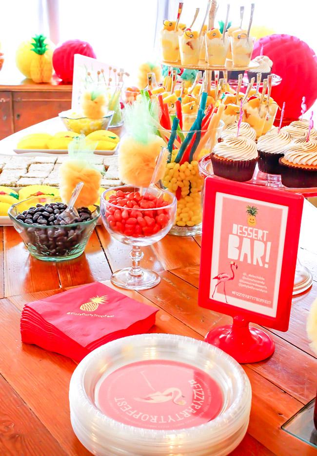 Lovely Flamingo Party Dessert Bar