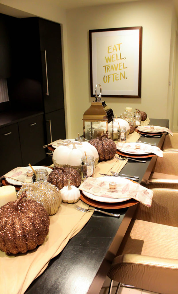 Love everything on this gorgeous Fall Thanksgiving Tablescape!- B. Lovely Events