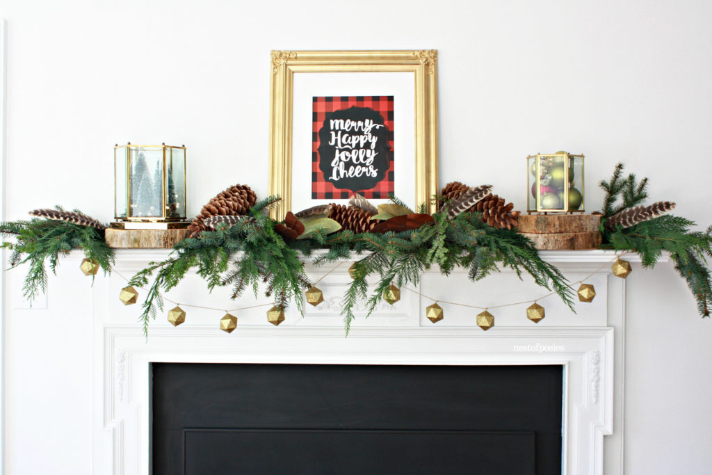Buffalo check Christmas Mantle & Free Printable - See More Buffalo Check Ideas on B. Lovely Events