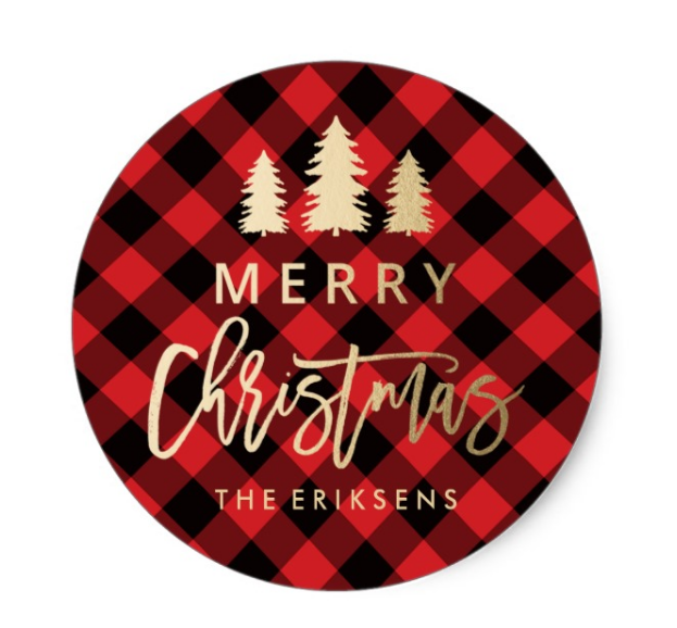 Buffalo Plaid Christmas Stickers- Cute-- See More Buffalo Check Ideas on B. Lovely Events