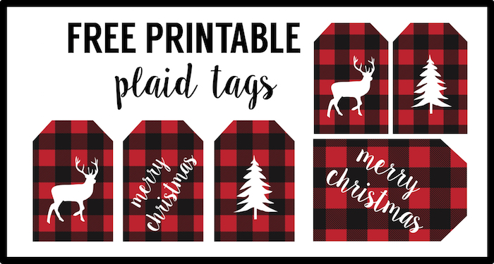 Buffalo Plaid Free printable tags- See More Buffalo Check Ideas on B. Lovely Events