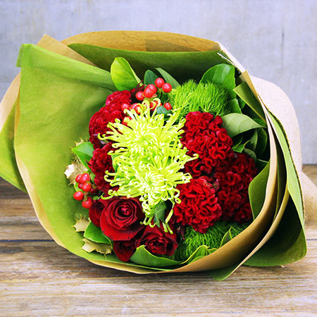 Christmas Red And Green Bouquet