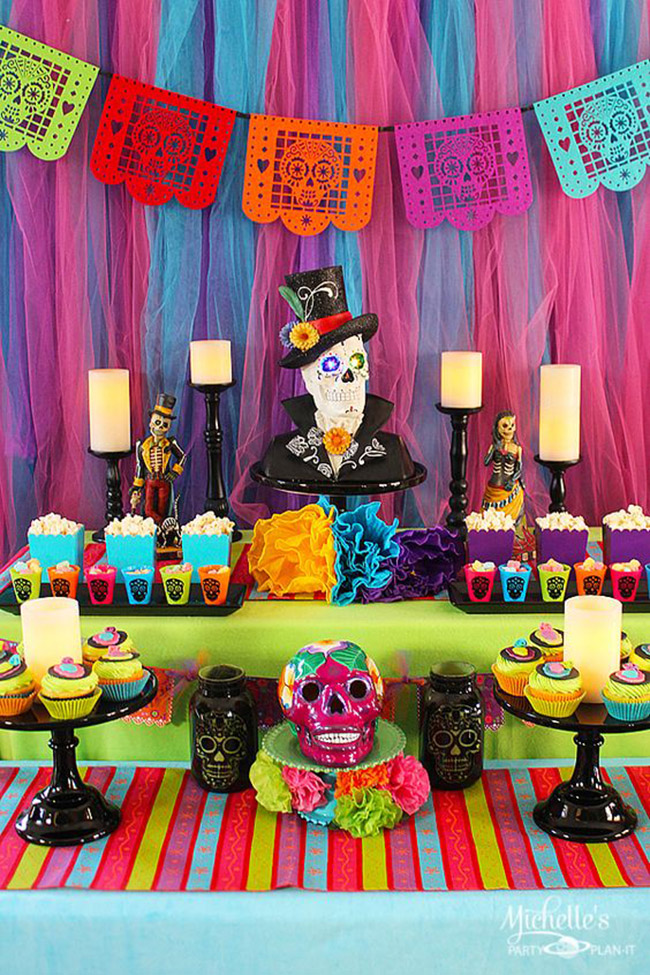 dia de los muertos party- so cute- See more day of the dead ideas on B. Lovely Events