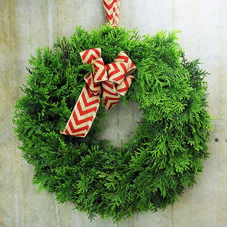 Fresh Evergreen wreath for Christmas