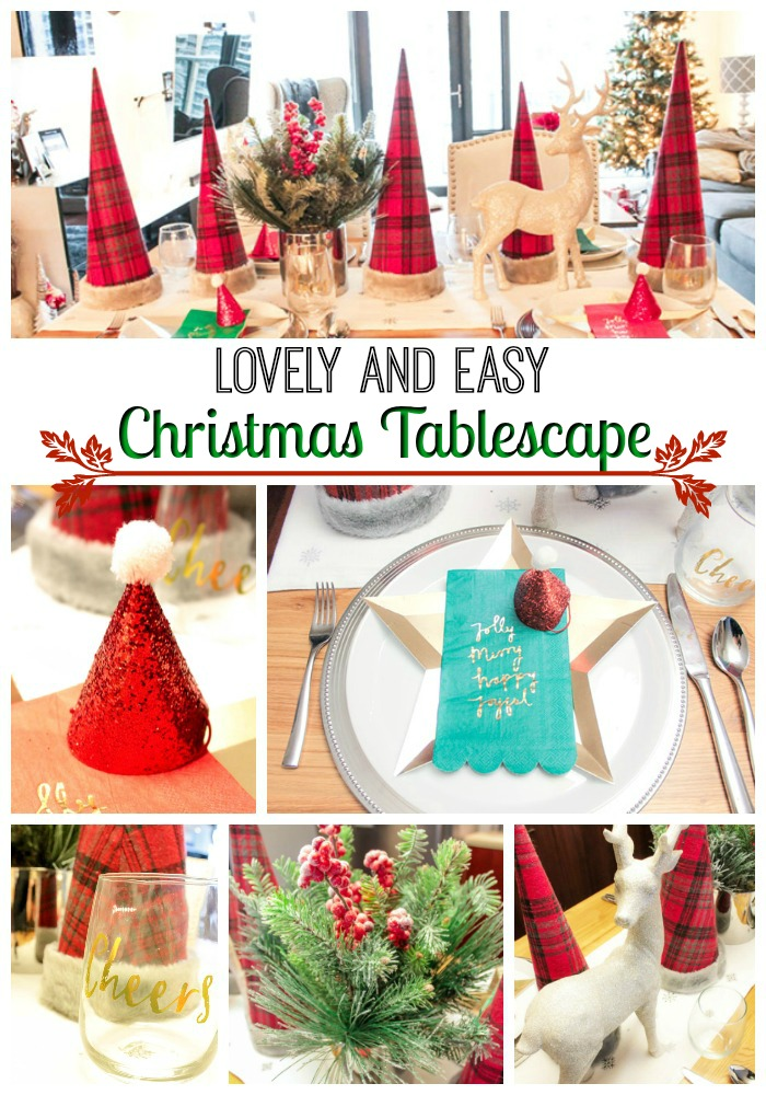 Lovely and easy Christmas tablescape- B. Lovely Events