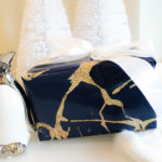 Luxe Christmas Wrapping In Navy And Gold