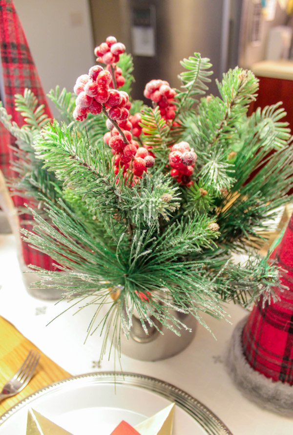 This frosted berry centerpiece is perfect for Christmas- B. Lovely Events
