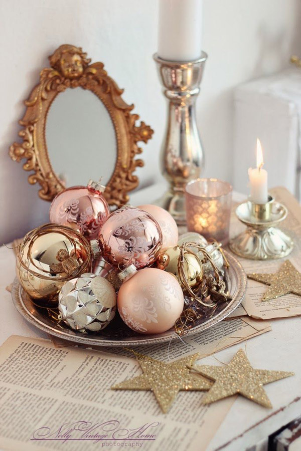 Loving a rose gold christmas b lovely events for Decoration rose gold