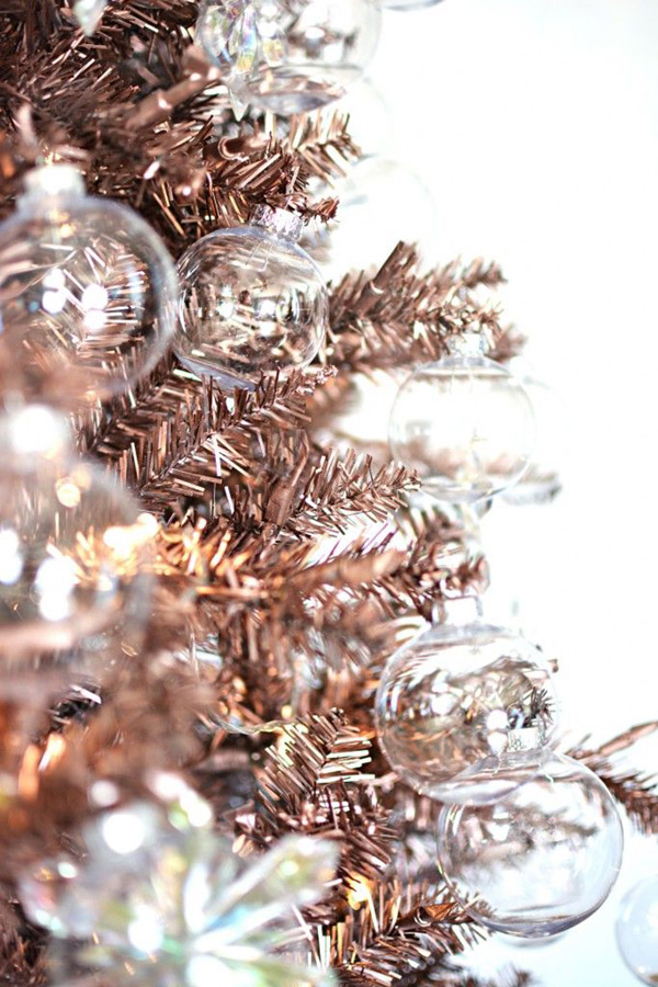 Rose Gold Christmas Tree- SO Lovely!