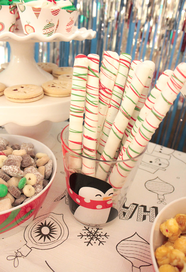 Winter Holiday Party On The Fly On The Cheap Pretzels - B. Lovely Events