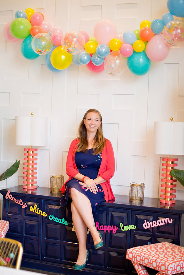 Fun And colorful balloon garland - See why they are our new obsession on B. Lovely Events