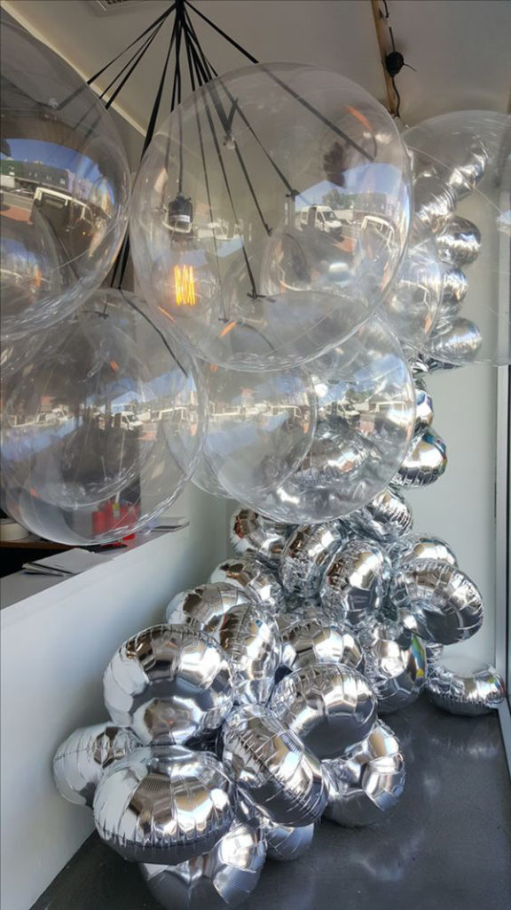 Fun Mylar Balloon Garland- See why they are our new obsession on B. Lovely Events