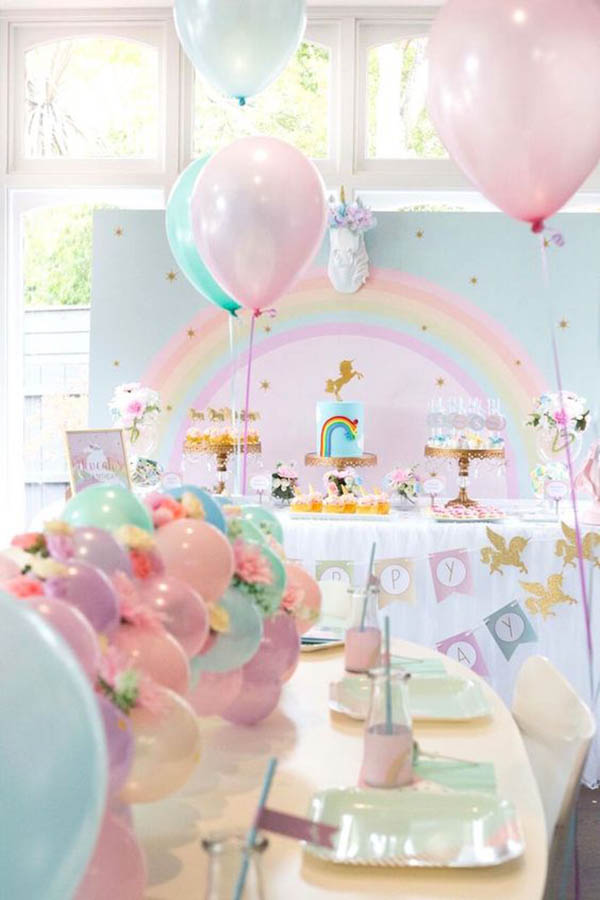 Lovely Unicorn Party Decorations- See more cute Unicorn Party Ideas on B. Lovely Events!