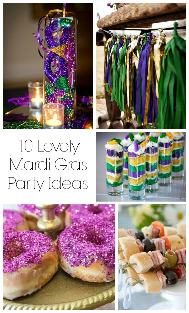 10 Lovely Mardi Gras Party Ideas! - B. Lovely Events