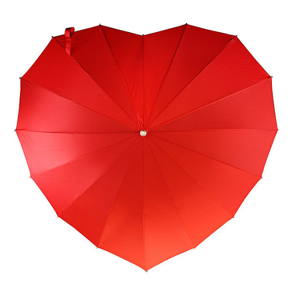 Bridesmaid Gift Ideas- Heart Umbrella - so cute!